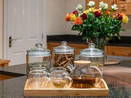 Herbal teas tray from Festevia